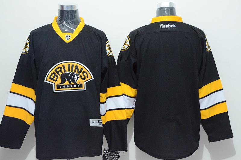 NHL Boston Bruins blank black Third Jersey