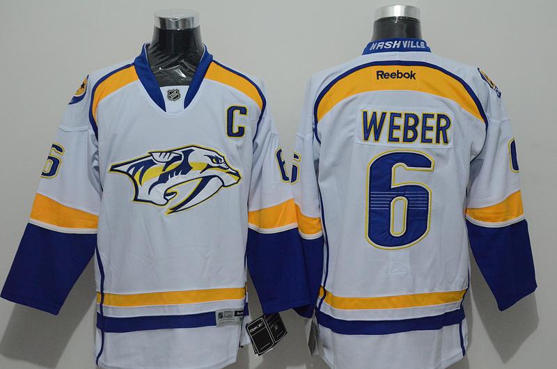 NHL Nashville Predators 6 Weber white Jersey