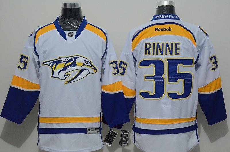 NHL Nashville Predators 35 rinne white Jersey