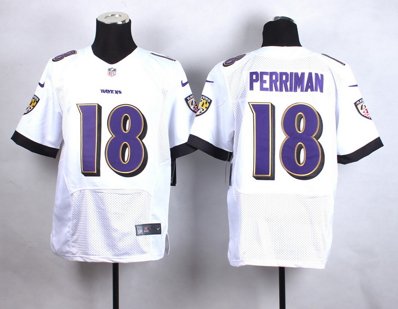 Baltimore Ravens 18 Perriman White New 2015 Nike Elite Jersey
