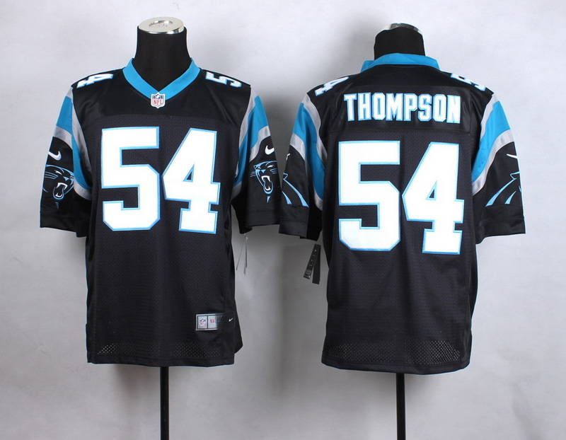Carolina Panthers 54 Thompson Black New 2015 Nike Elite Jersey