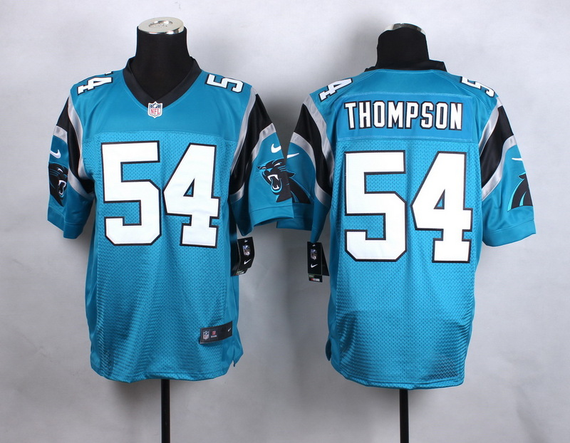 Carolina Panthers 54 Thompson Blue New 2015 Nike Elite Jersey