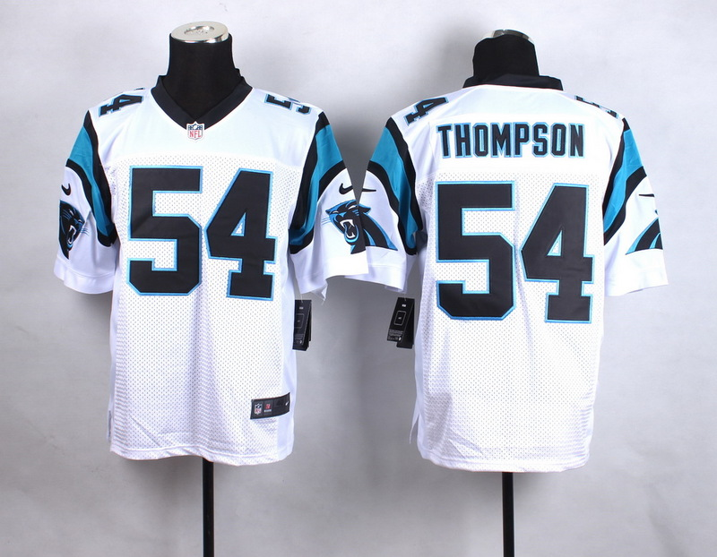 Carolina Panthers 54 Thompson White New 2015 Nike Elite Jersey