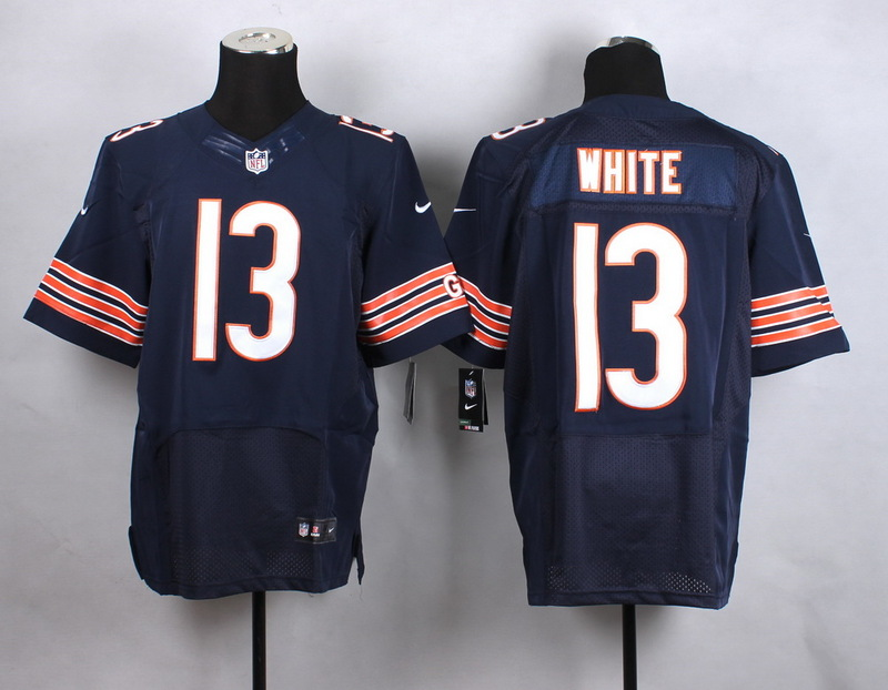 Chicago Bears 13 White Blue New 2015 Nike Elite Jersey