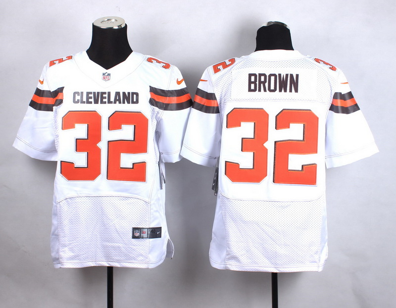 Cleveland Browns 32 brown white New 2015 Nike Elite Jersey
