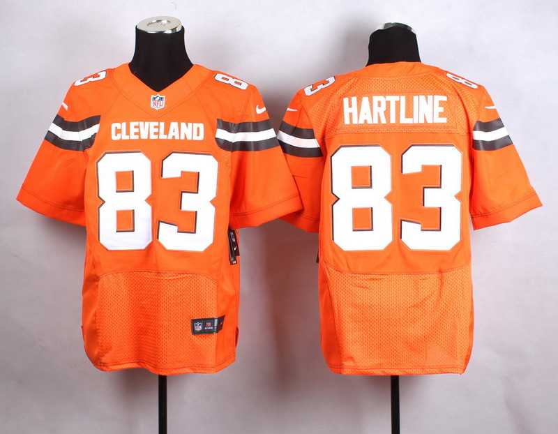 Cleveland Browns 83 hartline Orange New 2015 Nike Elite Jersey