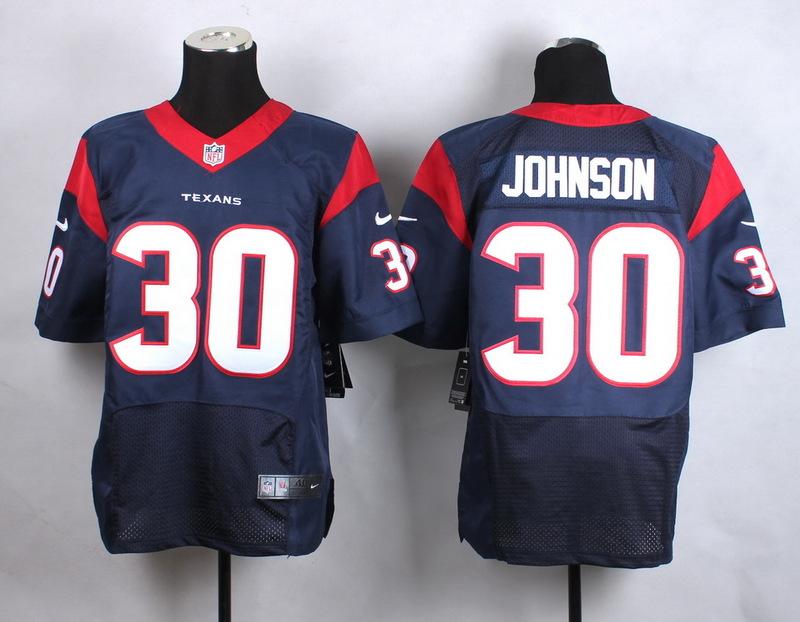 Houston Texans 30 Johnson Blue New 2015 Nike Elite Jersey