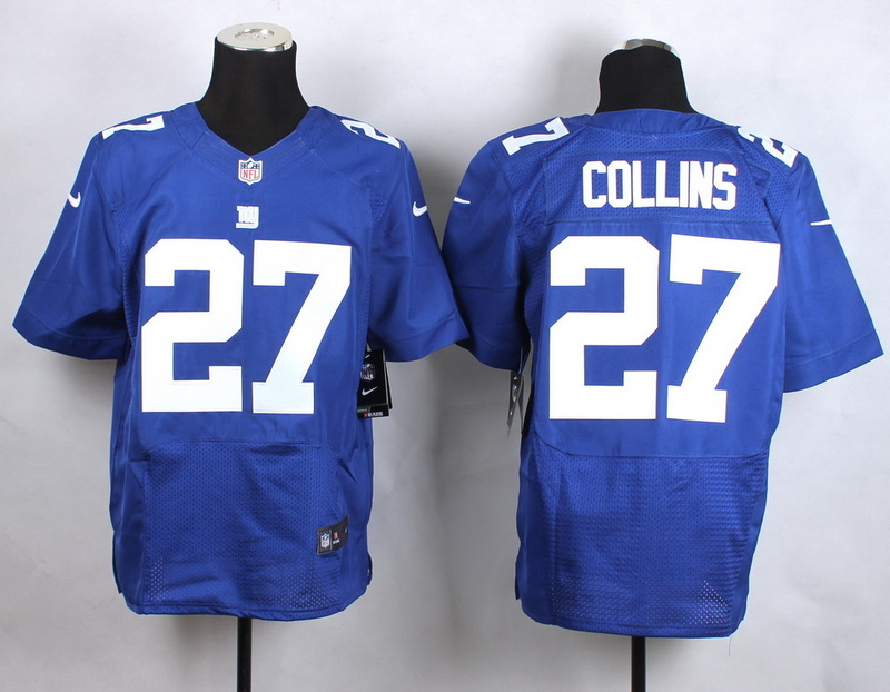New York Giants 27 Collins Blue New 2015 Nike Elite Jersey
