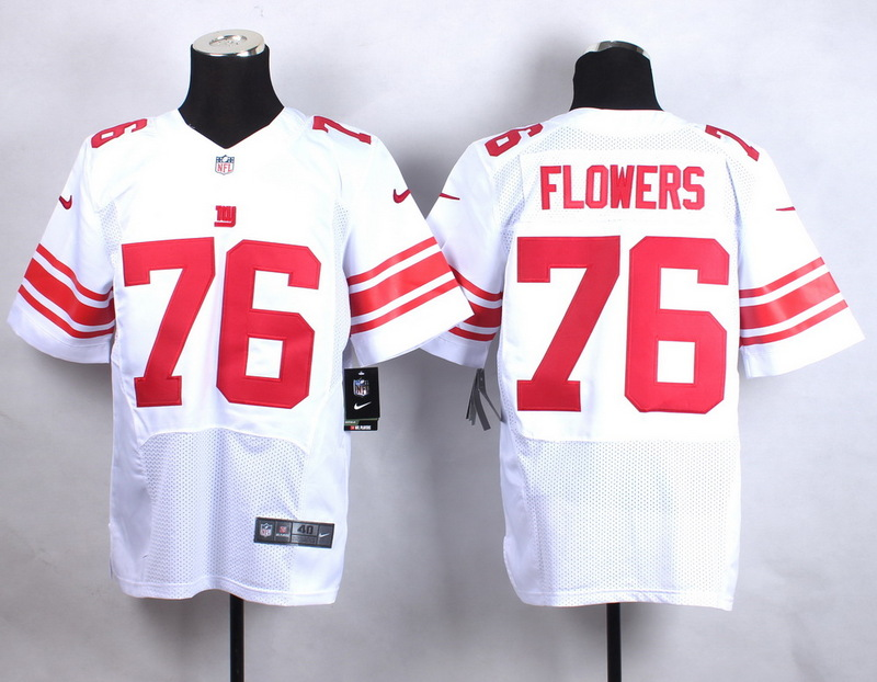 New York Giants 76 Flowers White New 2015 Nike Elite Jersey