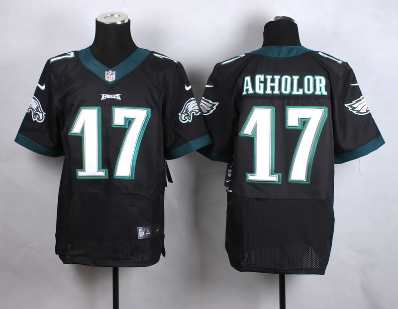 NFL Customize Philadelphia Eagles 17 Agholor Black New 2015 Nike Elite Jersey
