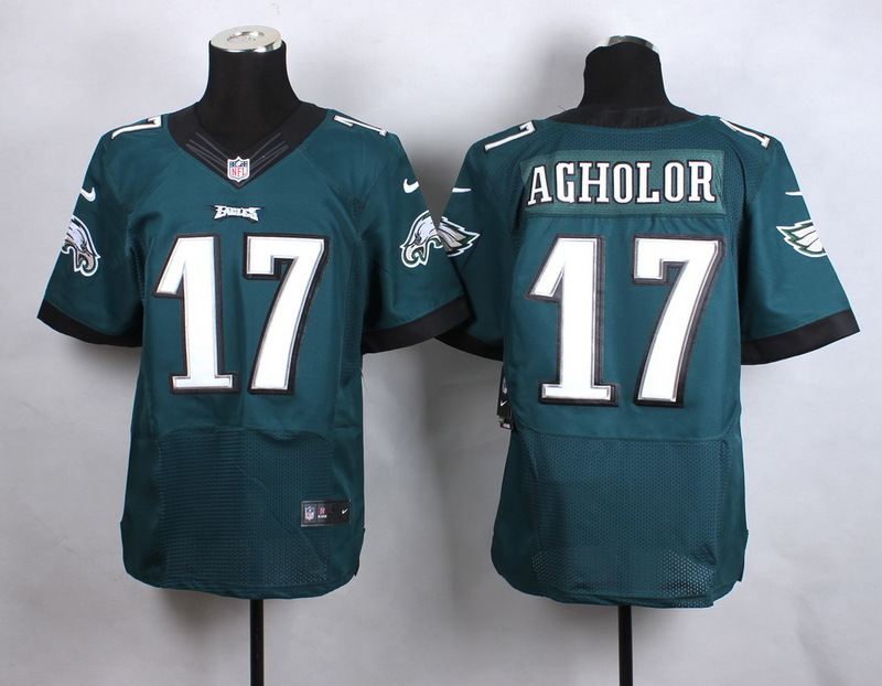 NFL Customize Philadelphia Eagles 17 Agholor Green New 2015 Nike Elite Jersey