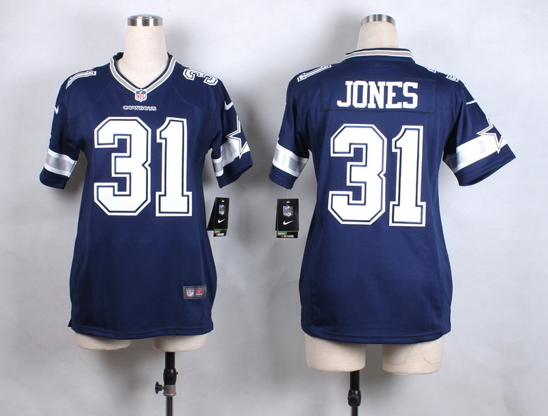 Womens Dallas Cowboys 31 Jones Blue New 2015 Nike Jersey