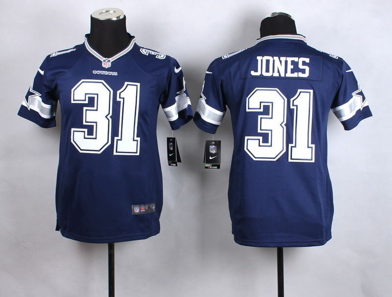 Youth Dallas Cowboys 31 Jones Blue New 2015 Nike Jersey