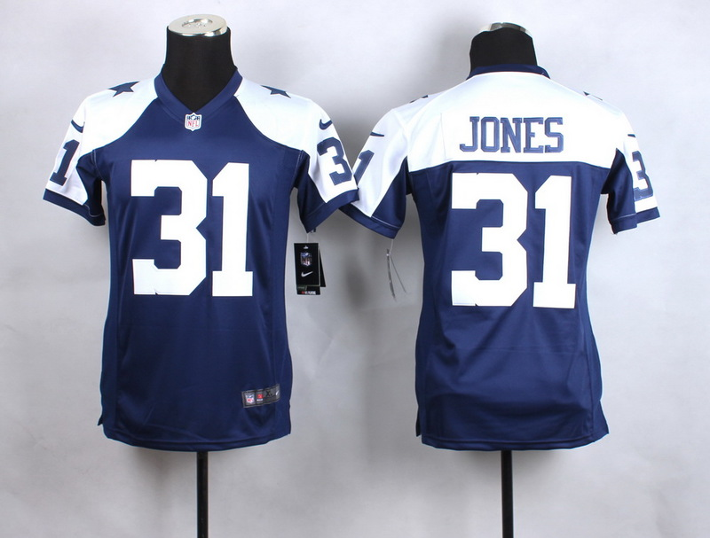 Youth Dallas Cowboys 31 Jones Blue Thanksgiving New 2015 Nike Jersey