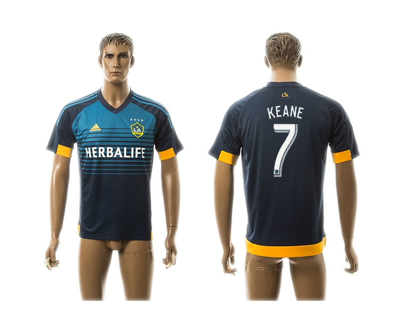 2015 AAA+ Los Angeles Galaxy 7 KEANE Blue Away Soccer Jersey