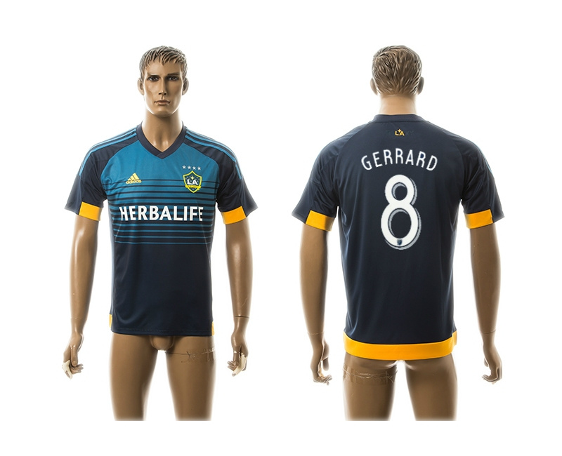 2015 AAA+ Los Angeles Galaxy 8 GERRARD Blue Away Soccer Jersey