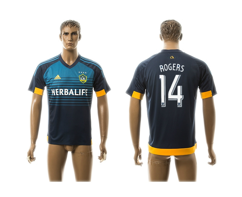 2015 AAA+ Los Angeles Galaxy 14 ROGERS Blue Away Soccer Jersey