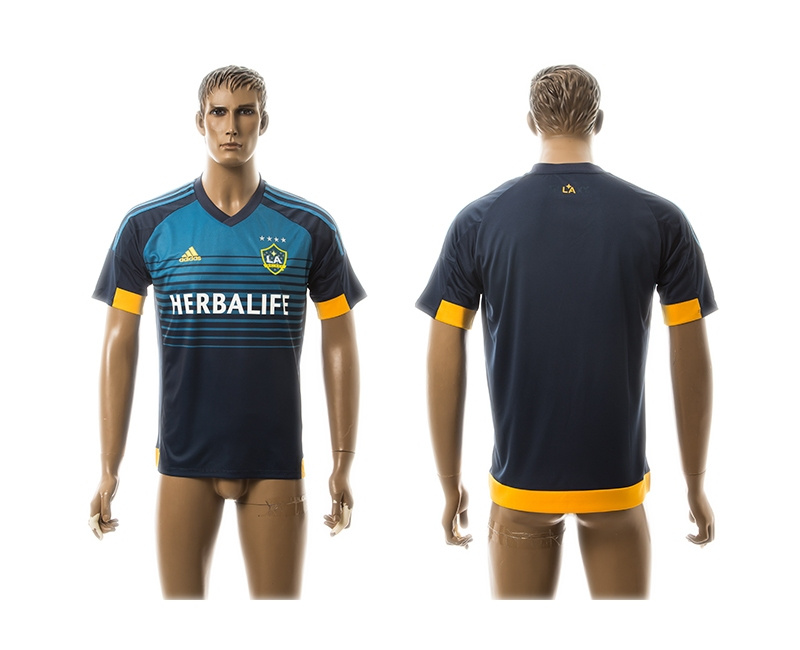 2015 AAA+ Los Angeles Galaxy Blank Blue Away Soccer Jersey