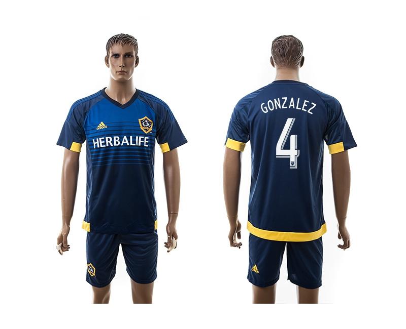 2015 Los Angeles Galaxy 4 GONZALEZ Away Soccer Jersey