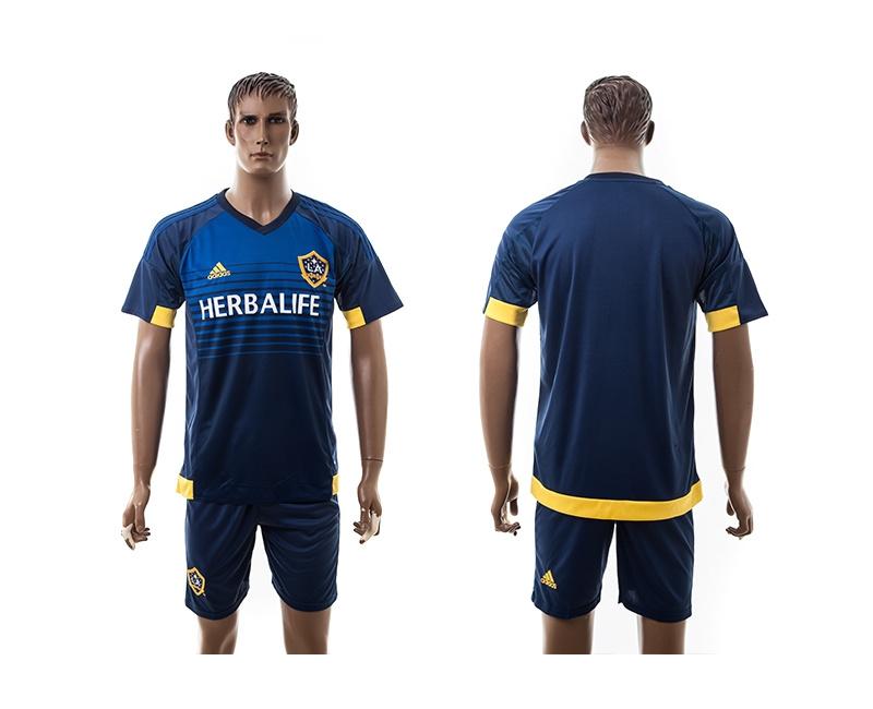2015 Los Angeles Galaxy Blank Away Soccer Jersey