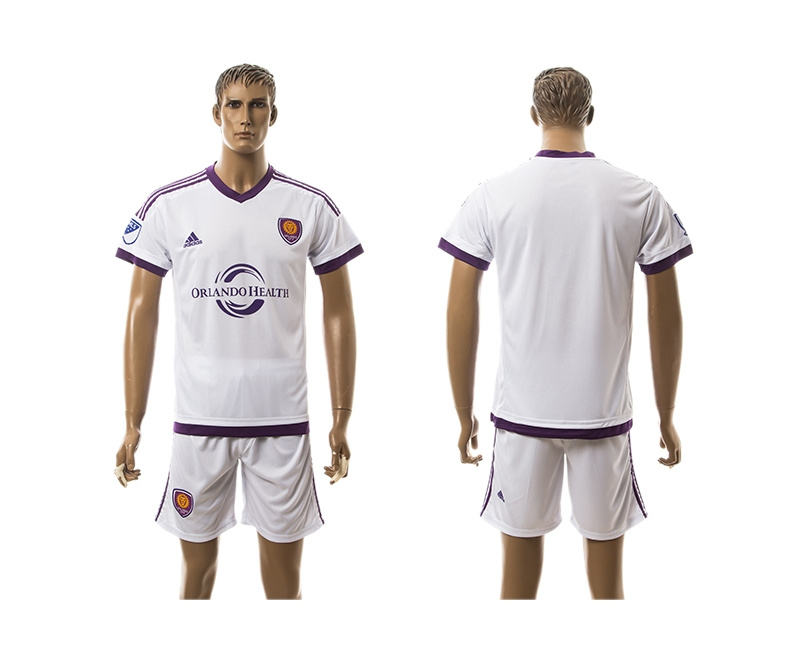 2015 Orlando City Blank Away White Soccer Jersey