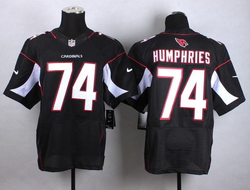 Arizona Cardinals 74 Humphries Black Men Nike Elite Jerseys
