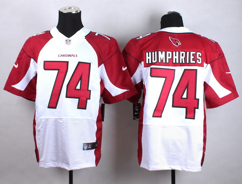 Arizona Cardinals 74 Humphries white Men Nike Elite Jerseys