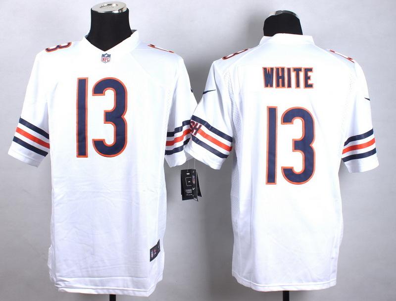 Chicago Bears 13 White White 2015 Nike Game Jerseys