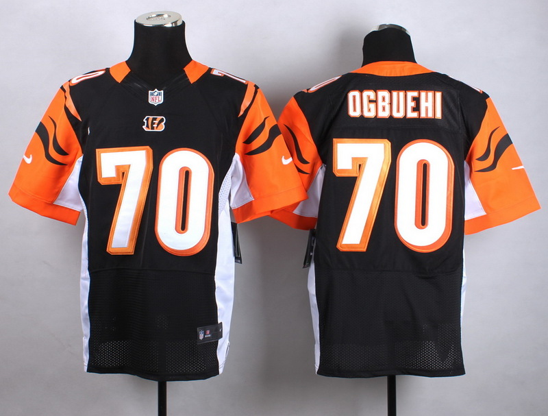 Cincinnati Bengals 70 Ogbuehi Black Men Nike Elite Jerseys