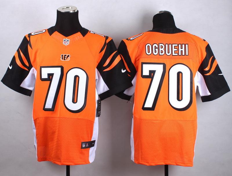 Cincinnati Bengals 70 Ogbuehi Orange Men Nike Elite Jerseys