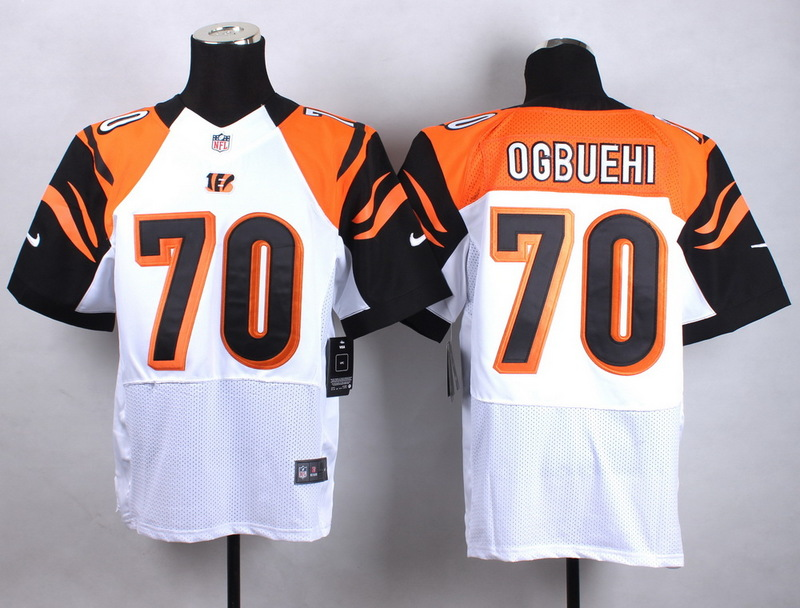 Cincinnati Bengals 70 Ogbuehi White Men Nike Elite Jerseys