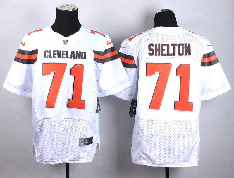 Cleveland Browns 71 Shelton white Men Nike Elite Jerseys