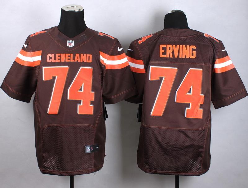 Cleveland Browns 74 Erving Brown Men Nike Elite Jerseys