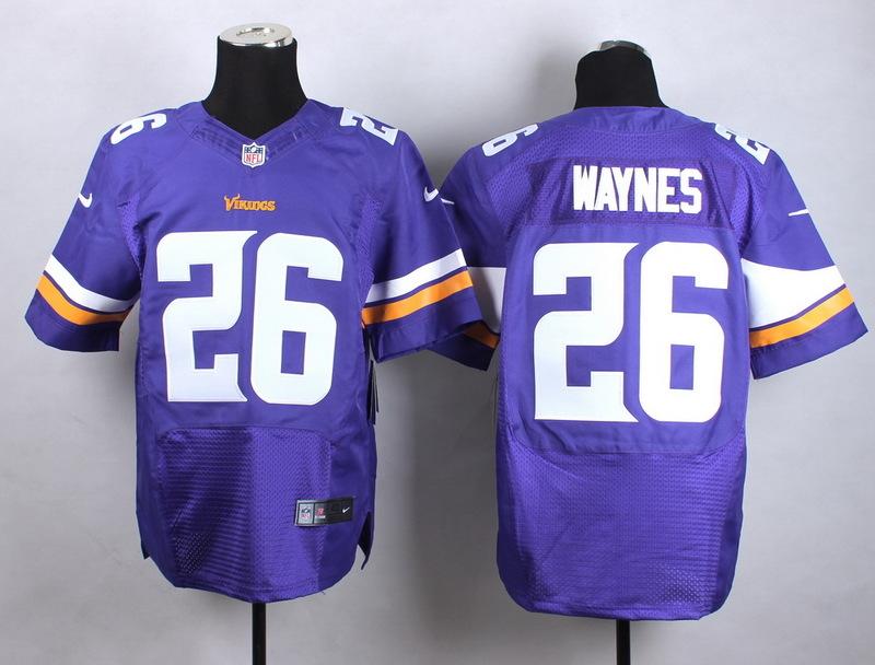 Minnesota Vikings 26 Waynes Purple Men Nike Elite Jerseys
