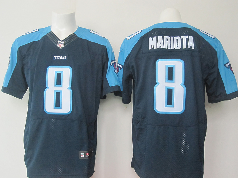 Tennessee Titans 8 mariota Deep blue Men Nike Elite Jerseys