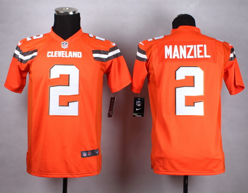 Youth Cleveland Browns 2 Manziel Orange 2015 Nike Jerseys