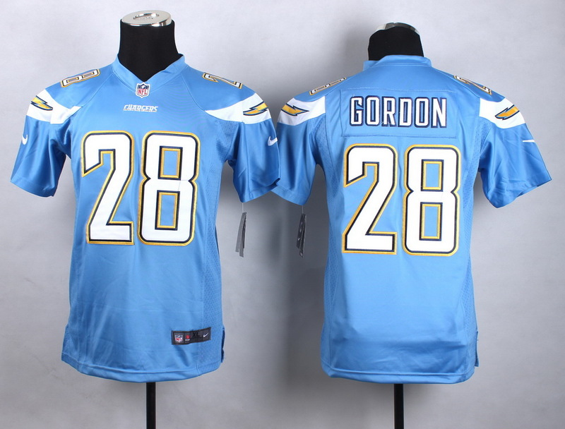 Youth Los Angeles Chargers 28 gordon baby blue 2015 Nike Jerseys