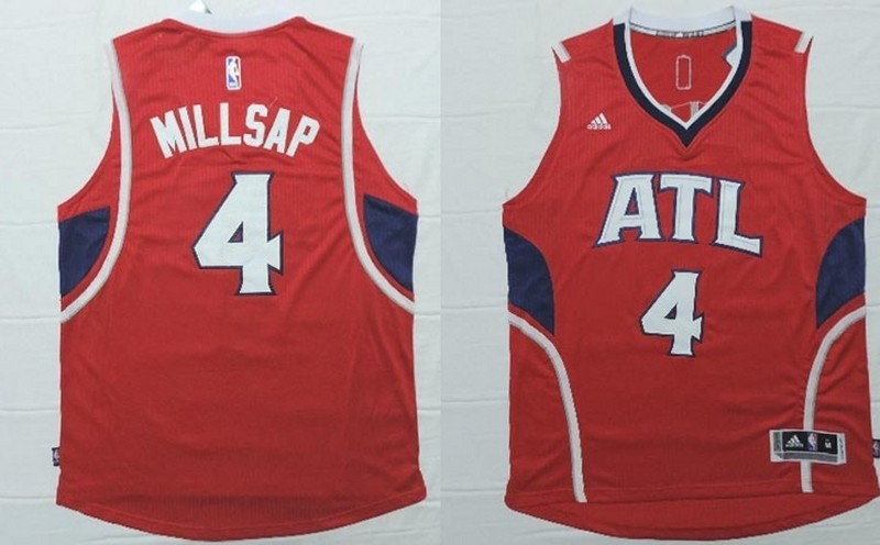 NBA Atlanta Hawks 4 Paul Millsap 2015 Jerseys