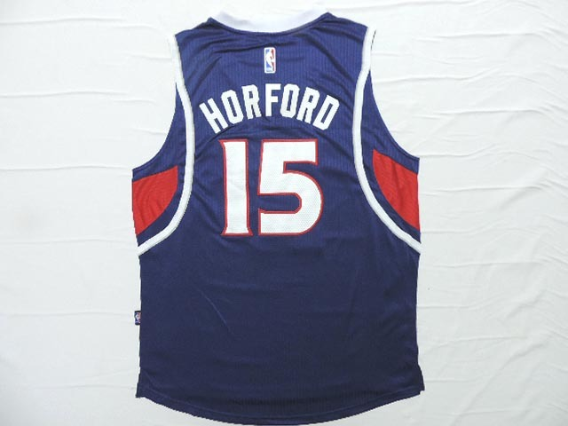 NBA Atlanta Hawks 15 Horford Blue 2015 Jerseys