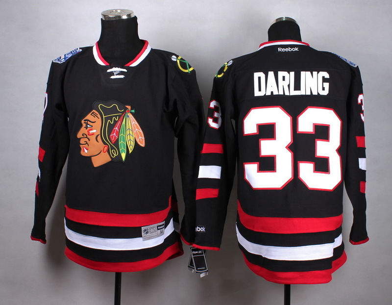 NHL Chicago Blackhawks 33 darling Black 2015 Jersey