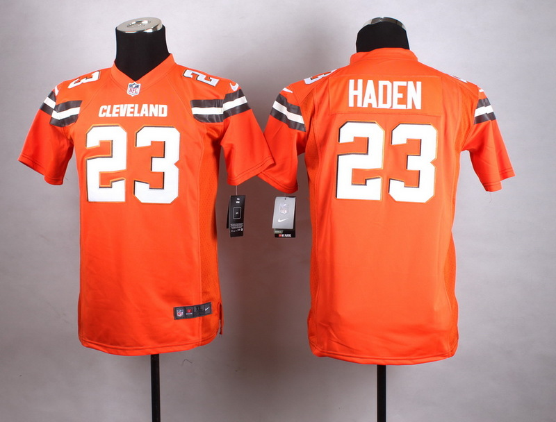 Youth Cleveland Browns 23 Haden Orange New 2015 Nike Jersey