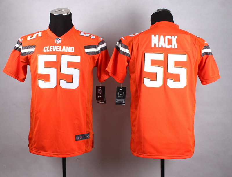 Youth Cleveland Browns 55 Mack Orange New 2015 Nike Jersey