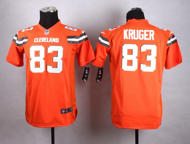 Youth Cleveland Browns 83 Kruger Orange New 2015 Nike Jersey