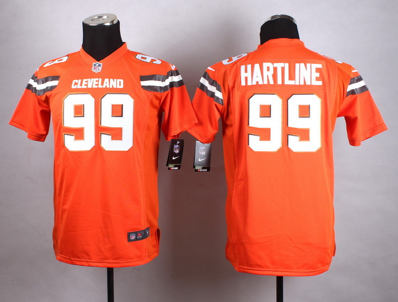 Youth Cleveland Browns 99 Hartline Orange New 2015 Nike Jersey