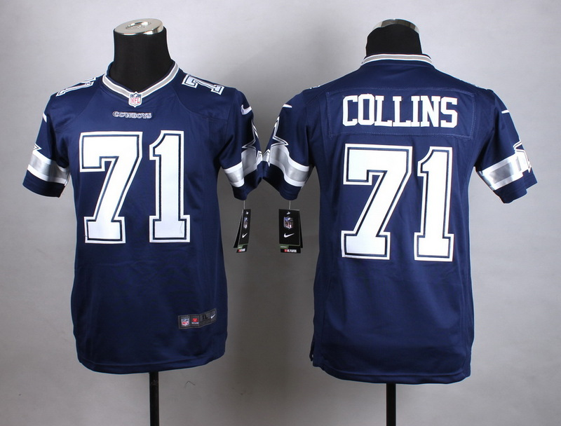 Youth Dallas Cowboys 71 Collins Blue New 2015 Nike Jersey