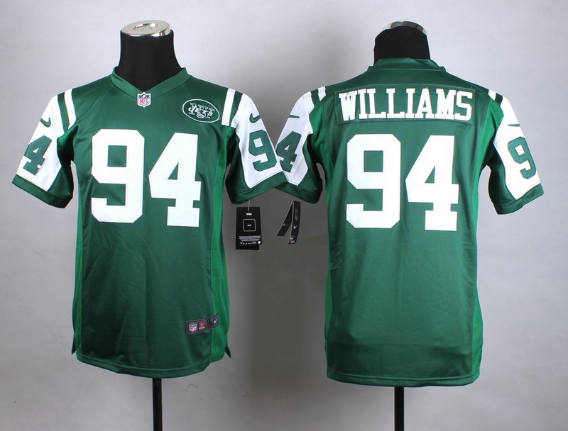 Youth New York Jets 94 Williams Green New 2015 Nike Jersey