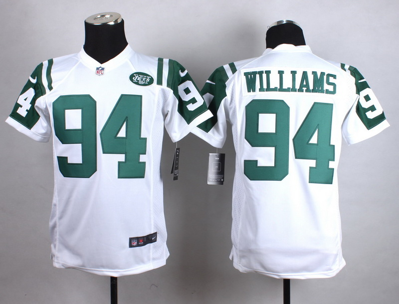 Youth New York Jets 94 Williams White New 2015 Nike Jersey