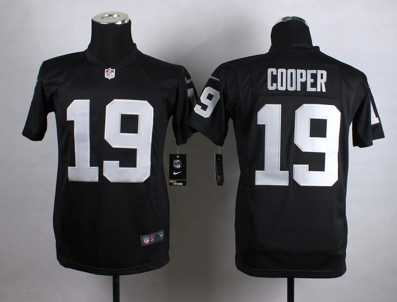 Youth Oakland Raiders 19 Cooper Black New 2015 Nike Jersey