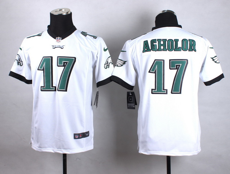 Youth Philadelphia Eagles 17 Agholor White New 2015 Nike Jersey