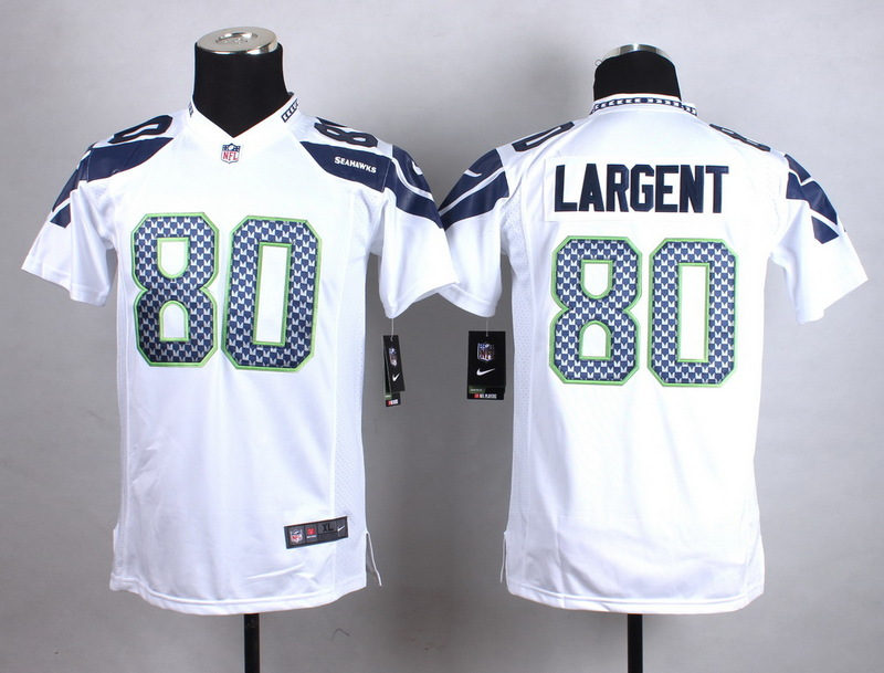 Youth Seattle Seahawks 80 Largent White New 2015 Nike Jersey
